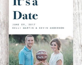Customized Simple Save the Date (ONE SIDED)