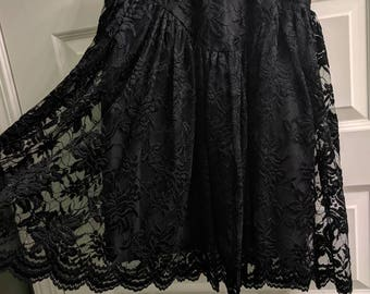 Black lace top/skirt set. Sold separately or together