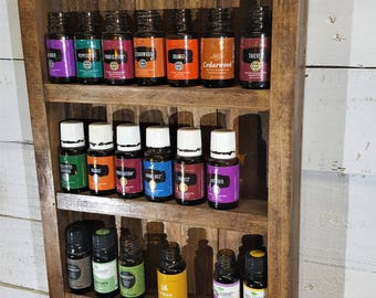 Country Rustic Primitive Essential Oil / Nail Polish Shelf Rack