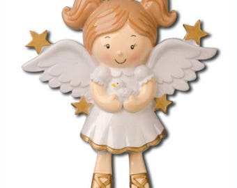 Angel with Doves Christmas Tree Ornament