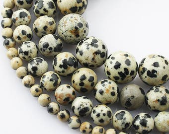 6mm Dalmation Jasper Natural Stone Beads Stone Round Loose Beads Gemstone Bead Supply