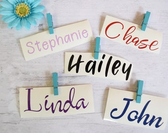 Vinyl Name Decal / Any Word Decal / Name Sticker / Ozark Trail Decal / Custom Name Decal / Name Decal / Yeti Name Decal / Any Name Decal