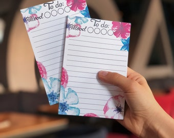"""To do list (notepad) """"Flowers"""""""