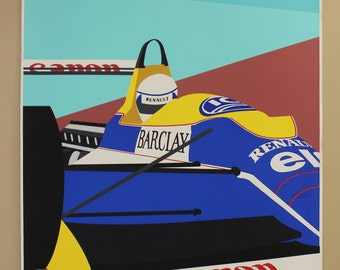 Franco Costa Signed Serigraph Formula 1