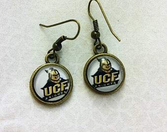 UCF University of Central Florida Game Day Drop Earrings Bronze UCF Knights earrings