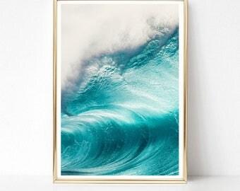 Ocean Art Print, Ocean Print, Nature Print, Photography Print, PRINTABLE Art, Digital Download, Beach Decor, Ocean Decor, Ocean Poster