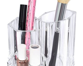 3 Tier Acrylic Make-Up Brush And Cosmetics Organizer