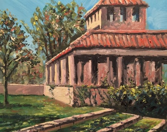 Plein Air Oil Painting of old Florida house