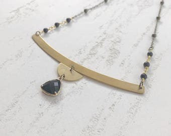 crescent necklace //