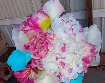 Peonies and calla lily Bouquet