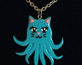 Turquoise Octokitty Necklace