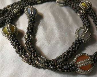 Matte grey necklace