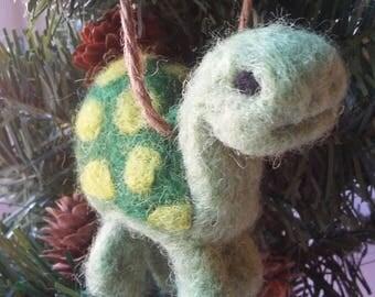 Felted Wool Turtle