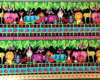 RJR Fabric, Jungle Things, Animal Print, Childs Fabric,  Border Print