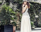 Bohemian wedding silk chiffon long skirt - Boho wedding silk chiffon skirt - Rustic wedding - Romantic bride - Beach wedding long skirt