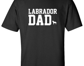 Labrador Dog Dad Logo Graphic T Shirt