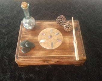 One of a kind rustic witch box - tarot box - altar box