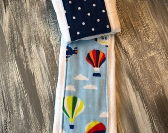 Hot air balloon flannel burp cloths