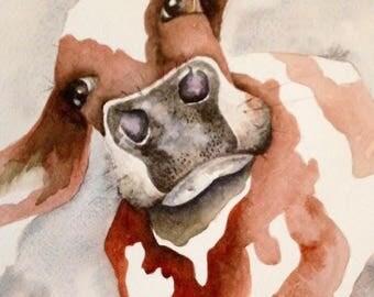 Original, OOAK, Watercolor painting, Studio Illustration