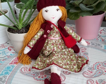 Handmade cloth doll / Handmade fabric doll / Handmade doll / fabric doll / Tilda doll / doll with clothes / waldorf inspired doll