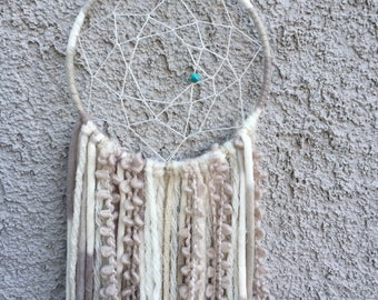 Natural Dreamcatcher with Turqouise bead