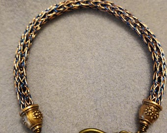 Viking Wire bracelet - Blue & Copper