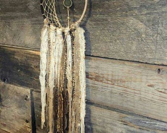Crescent moon dreamcatcher dream catcher lace earthy dreamcatcher boho nursery