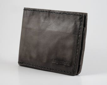 Argomenti 100% Handmade Leather Wallet - Stone Washed