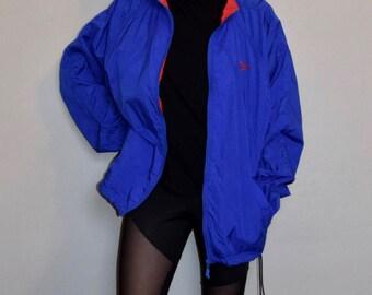 Vintage Reebok Blue and Red Full Zip Windbreaker Jacket
