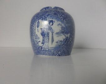 Vintage Japanese Blue & White Pot