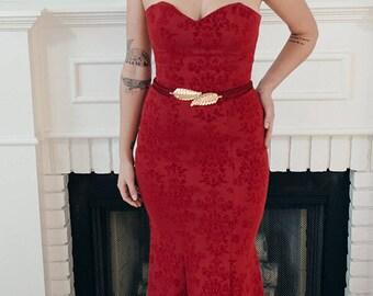 Velvet Roses Dress