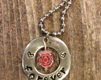 Forever pewter necklace