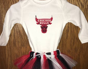 Baby Girls 3-6 month Chicago Bulls Tutu Set