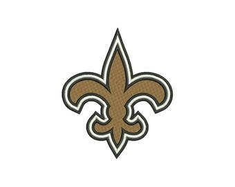 9 SIZE New Orleans Saints Embroidery Designs Football Embroidery Designs Football Logo PES Embroidery Football Applique