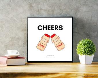 Milk Drink 'Cheers' Poster