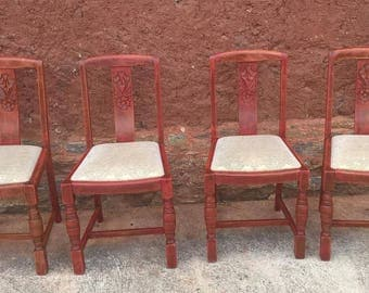 Set Of Four Dining Chairs - 1950's Vintage Chairs