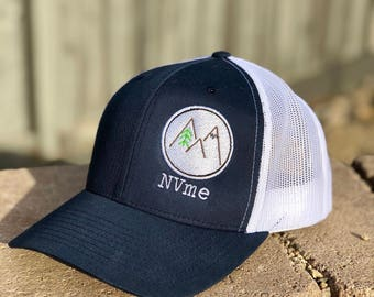Trucker Hat with Mountain Patch