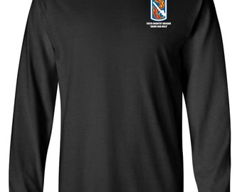 198th Light Infantry Brigade Long-Sleeve Cotton Shirt-8522