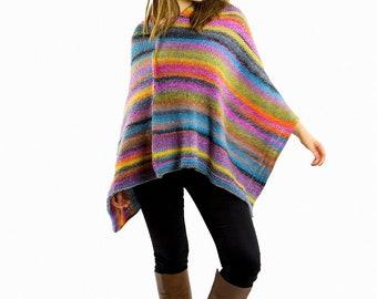 Ponchos Oversized poncho Mexican poncho Chunky Wool poncho Chunky Poncho Sweater Poncho Oversized Plus size poncho Knit poncho women Gift