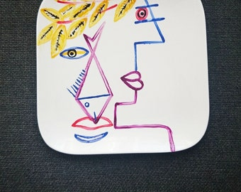 "Porcelain plate ""Caesar"" 25 cm / 25 cm"