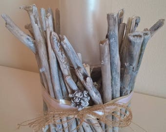 Candlestick Candle holder with driftwoods Sea Woods