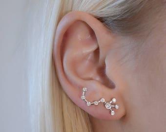 Zodiac earrings - scorpio