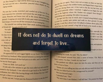 Harry Potter and the Sorcerer's Stone Bookmark (It does not do to dwell...)