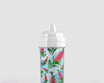 Beautiful Australian Native Floral Baby Sippy Cup - Toddler Sippy Cup - Baby Gift - Toddler Gift