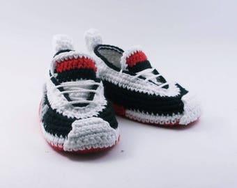 Crochet baby shoes Baby sneakers Baby booties Crochet sneakers, Child slippers, Newborn baby booties, Newborn baby gift, Baby boy