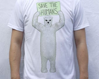 Save The Humans T Shirt Design