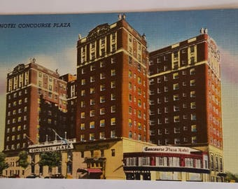 Hotel Concourse Plaza Vintage Postcard