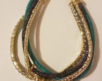 Charm multi-strand bracelet