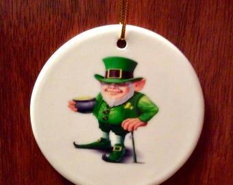 St Patricks Day Leprechaun Porcelain (Ceramic) ornament