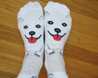 Cute Samoyed Dog Socks